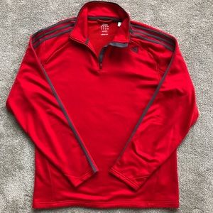 adidas Half Zip Pullover Jacket - Men's Large
